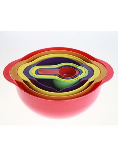 Kanca Ev 8 Parça Çok Amaçlı Mutfak Seti Renkli